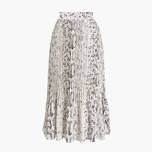 COPY - J.CREW Animal-print pleated midi skirt